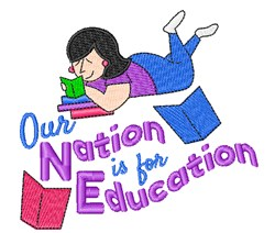 Nation For Education embroidery design
