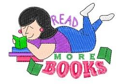 Read More Books embroidery design