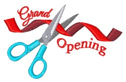 Grand Opening embroidery design