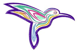 Ripple Hummingbird embroidery design