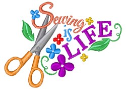 Sewing Is Life embroidery design