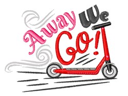 Away We Go embroidery design