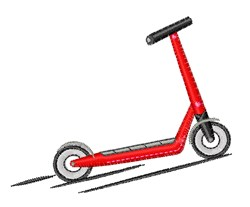 Scooter embroidery design