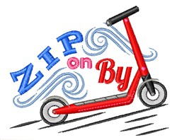 Zip On By embroidery design