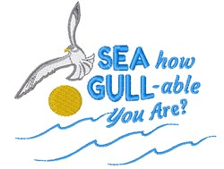 How Gull-able embroidery design