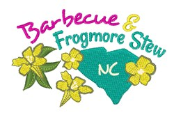 Barbecue & Frogmore Stew embroidery design
