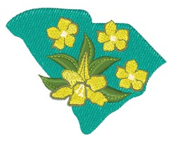 South Carolina Flowers embroidery design