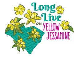 Yellow Jessamine embroidery design