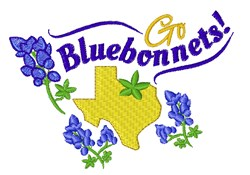 Go Bluebonnets embroidery design