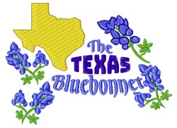 The Texas Bluebonnet embroidery design
