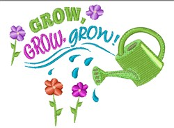 Watering Can Grow embroidery design