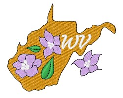 West Virginia Flowers embroidery design