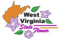 West Virginia Flower embroidery design