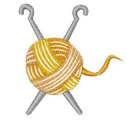 Yarn & Needles embroidery design