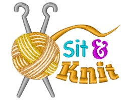 Sit & Knit embroidery design