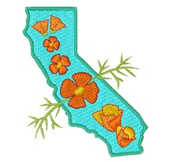 California Poppies embroidery design