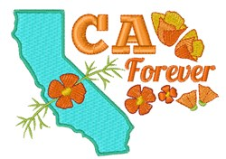 CA Forever embroidery design