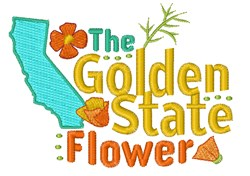 Golden State Flower embroidery design