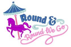 Round We Go embroidery design