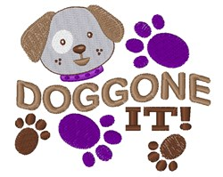 Doggone It embroidery design