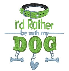 With My Dog embroidery design