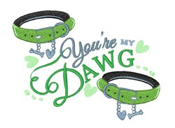 My Dawg embroidery design
