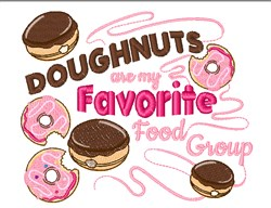 Favorite Food Group embroidery design