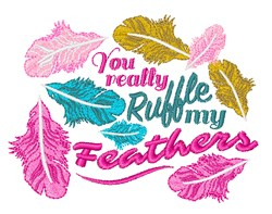 Ruffle My Feathers embroidery design