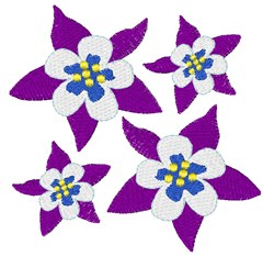 Columbine Blooms embroidery design
