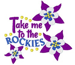 To The Rockies embroidery design
