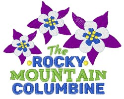 Rocky Mountain Columbine embroidery design