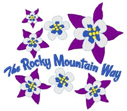 Rocky Mountain Way embroidery design
