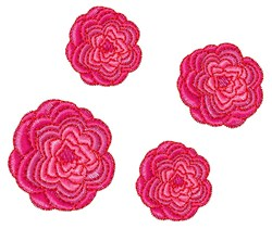 Camellia Flowers embroidery design