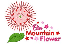 Mountain Flower embroidery design