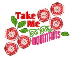 To The Mountains embroidery design