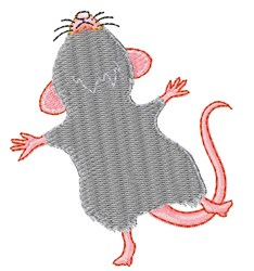 Happy Mouse embroidery design
