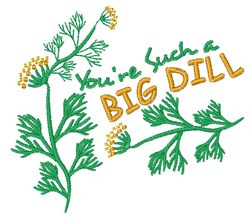 A Big Dill embroidery design