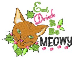 Be Meowy embroidery design
