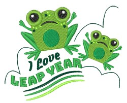 Leap Year embroidery design