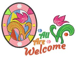 All Are Welcome embroidery design