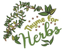 Time For Thyme embroidery design