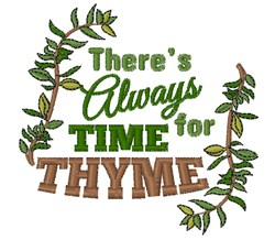 Thyme For Herbs embroidery design