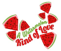 Watermelon Love embroidery design
