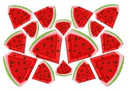 Watermelon Slices embroidery design