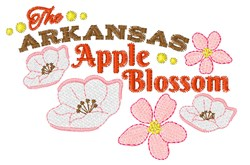 Arkansas Apple Blossom embroidery design