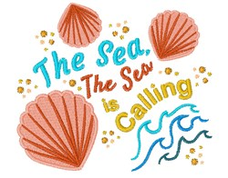 Sea Is Calling embroidery design