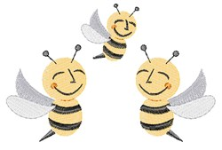 Bumble Bees embroidery design