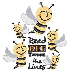 Bee Tween The Lines embroidery design