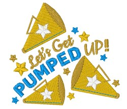 Pumped Up embroidery design