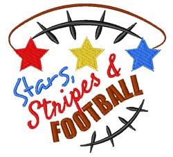 Stars Stripes & Football embroidery design